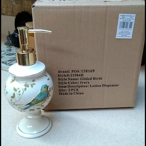 Avanti Gilded bird lotion dispenser